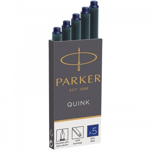 Синие картриджи Parker (Паркер) Quink Cartridges Blue 5шт в Казани