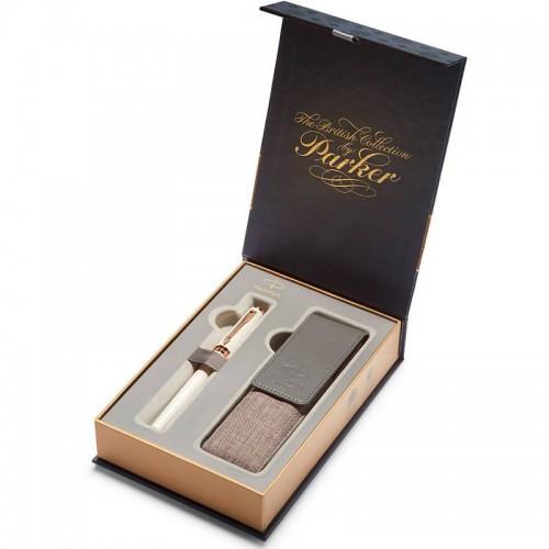 Подарочный набор из ручки Parker (Паркер) 5th Ingenuity Slim Pearl PGT и чехла в Казани