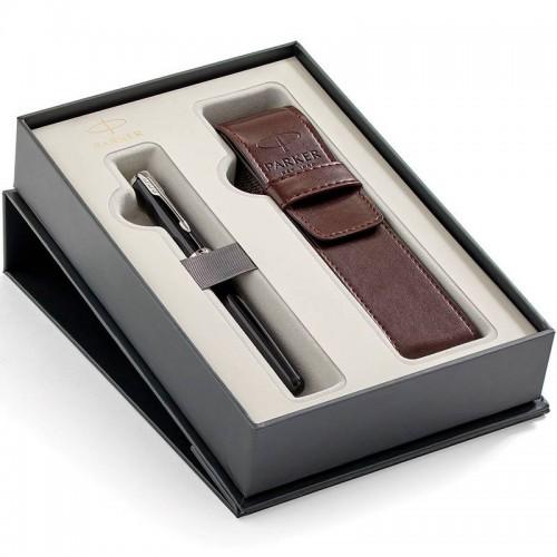 Набор с чехлом и перьевой ручкой Parker (Паркер) Sonnet Core Black Lacquer CT M в Казани