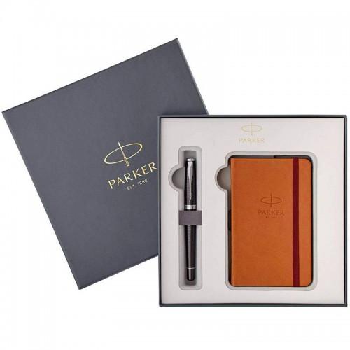 Набор с блокнотом и перьевая ручка Parker (Паркер) Urban Premium Ebony Metal CT M в Казани