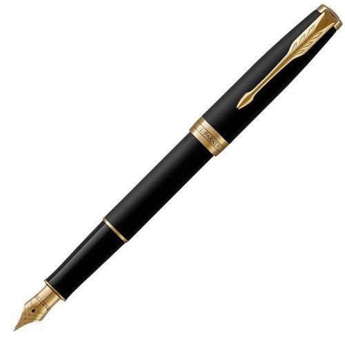 Перьевая ручка Parker (Паркер) Sonnet Core Matte Black Lacquer GT F в Казани