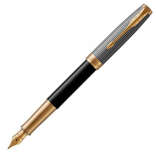 Перьевая ручка Parker (Паркер) Sonnet Premium Black Silver GT F в Казани