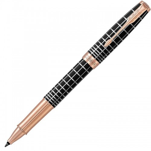 Ручка-роллер Parker (Паркер) Sonnet Premium Brown Rubber PGT в Казани