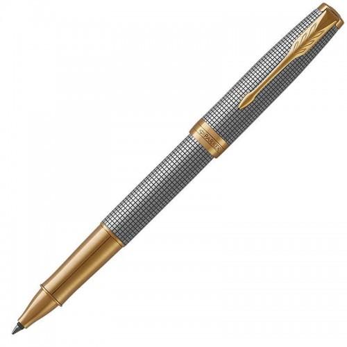 Ручка-роллер Parker (Паркер) Sonnet Luxury Cisele Silver GT в Казани
