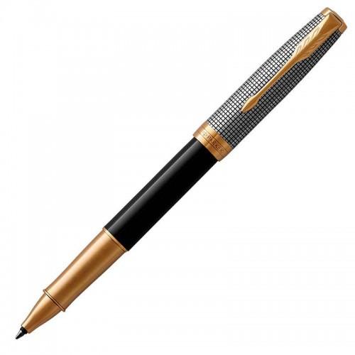 Ручка-роллер Parker (Паркер) Sonnet Premium Black Silver GT в Казани
