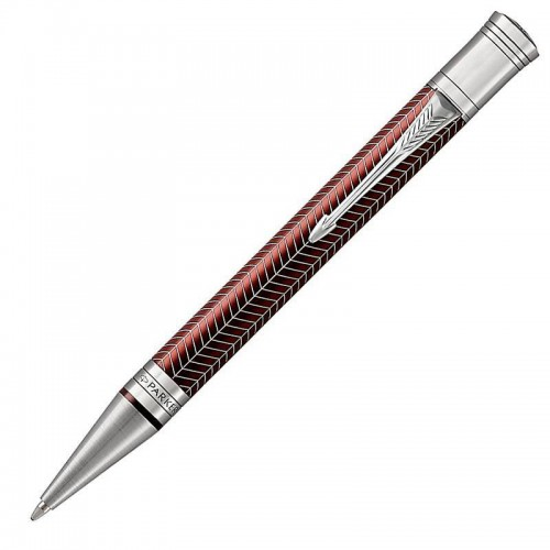 Шариковая ручка Parker (Паркер) Duofold Prestige Burgundy Chevron CT в Казани