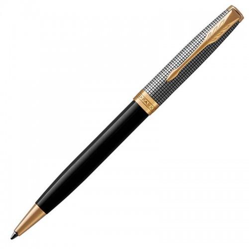 Шариковая ручка Parker (Паркер) Sonnet Premium Black Silver GT в Казани