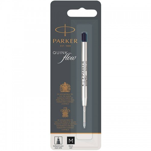 Чёрный шариковый стержень Parker Ball Pen Refill QuinkFlow Premium M Black в Казани